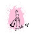lipstick makeup vector image