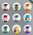 Men and Women Graduates of the World vector image