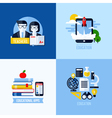 Modern flat concepts of educational elements vector image