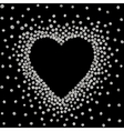 Silver frame in the shape of heart vector image