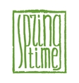 spring time lettering vector image