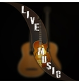 music background wave separates the jazz guitar vector image
