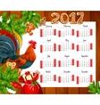 Christmas calendar on wooden background vector image