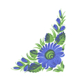 blue flower vector image vector image