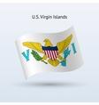 US Virgin Islands flag waving form vector image