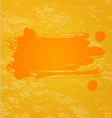 Orange splash background vector image