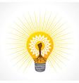 Unity hand make tree inside the bulb vector image