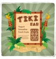 Retro Tiki bar sign vector image vector image
