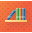 Bookshelf cartoon vector image