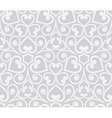 Abstract grey seamless hand-drawn floral pattern vector image