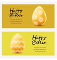 Happy Easter greeting horizontal landscape banners vector image