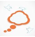 Speech cloud and birds vector image vector image