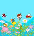 Happy Garden vector image