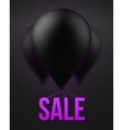 Big Black Balloon Sale Template Exclusive vector image