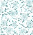 Light Seamless pattern with elegant flowers vector image