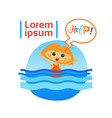 little girl drown in water child need help vector image