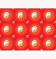pattern with yin yang symbols vector image
