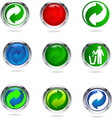 recycling buttons resize vector image