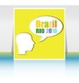 Brazil Rio Summer Games 2016 Flat design vector image