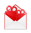 Envelope with Gift vector image