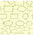 Blank mind map seamless pattern background vector image