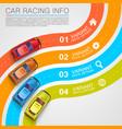 car racing info art cover vector image