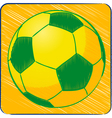 football brazil sketch background vector image vector image