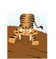 Sabertooth Tiger extinguishment vector image vector image