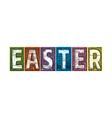 Easter Letterpress Textured Blocks vector image