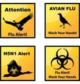 Avian flu alerts icons vector image