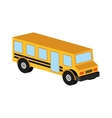 bus yellow school icon design vector image
