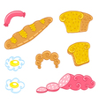Cartoon food set vector image