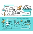 Disaster Damage Banner Set vector image