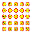 sun emoticons image vector image