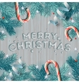 Winter holiday background Christmas lights vector image