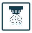 Smoke sensor icon vector image