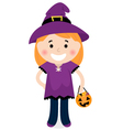 Cute halloween witch vector image