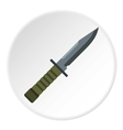 Military combat knife icon flat style vector image