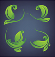 green leaves forms and frames vector image vector image