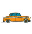 Cartoon yellow cab vector image