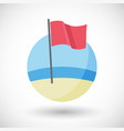 red flag flat icon vector image