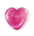 heart pink vector image vector image