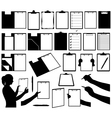 Set of different clipboards vector image