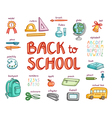 Back to school collection vector image