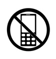 No cell sign vector image vector image