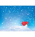 snowman snowfall vector image vector image