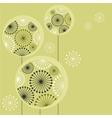 stylized dandelions vector image vector image