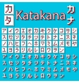Pixel Japanese Katakana vector image