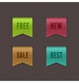 Free New Sale Best Ribbons vector image vector image