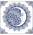 Bohemian ornate crescent moon vector image